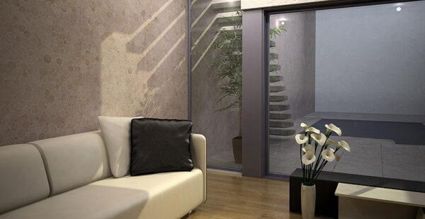 Living Room: Round M - Biancone