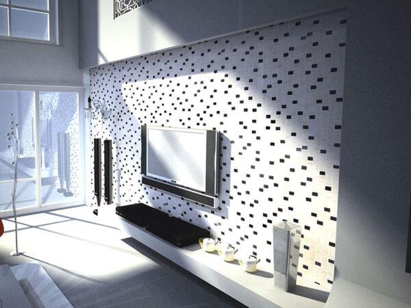 Living Room: Mosaics 27 - Biancone Silvagrey
