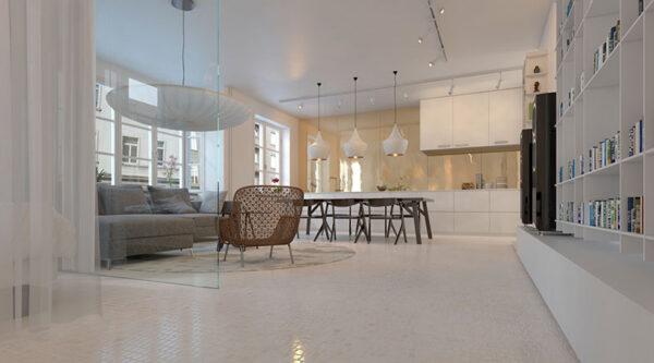 Living Room: Mosaics 27 - Biancone