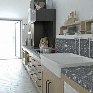 Kitchen: Mosaic 21 - Biancone SilvaGrey