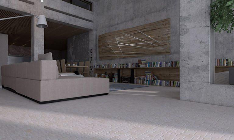 Living Room: Rectangle - Biancone