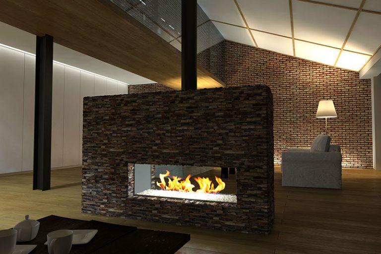 Living Room: Stripes - Brown
