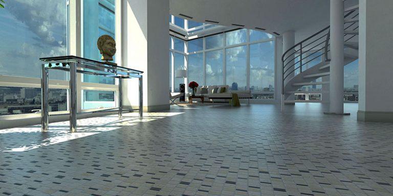 Hall: Mosaics 27-9 - Biancone Silvagrey