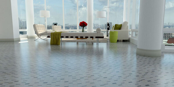 Living Room: Mosaics 27-9 - Biancone