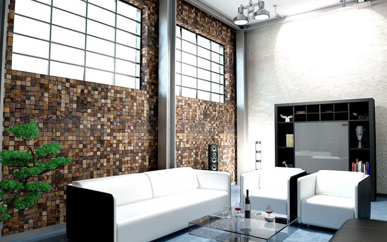 Living Room: Squares - Brown 54