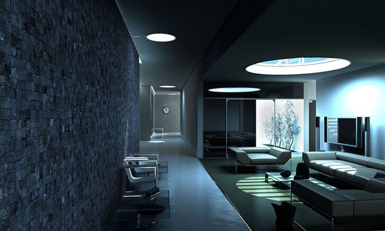 Living Room: Squares - Black 27