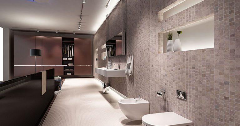 wall tiling bathroom