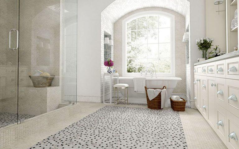 Bathroom: Mosaics 27 - Biancone Perlagrey