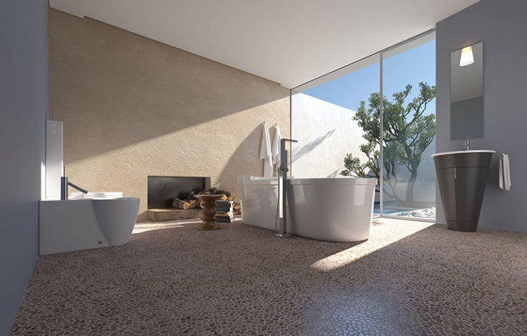 Bathroom: Palladiana S - Perlagrey