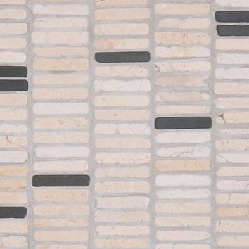 Mosaic 9 ROW - Biancone Silvagrey